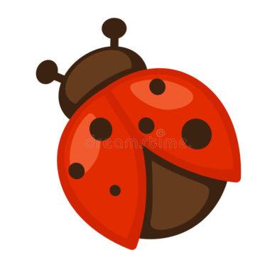 biedronka-ikona-jaskrawy-mały-insekt-81303226